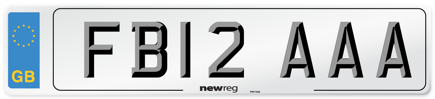 FB12 AAA Number Plate from New Reg