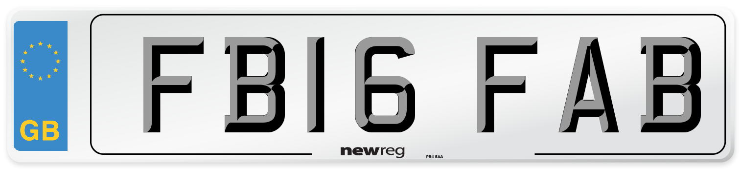 FB16 FAB Number Plate from New Reg