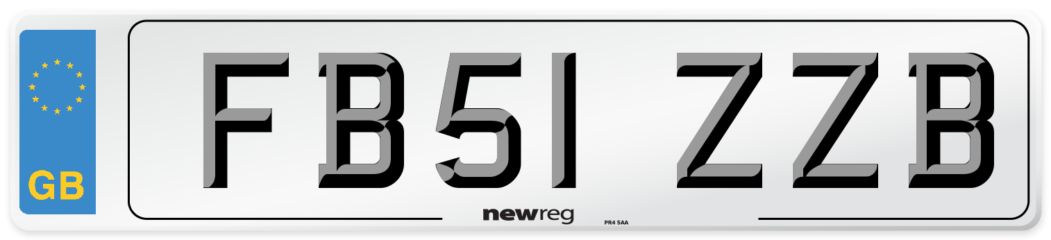FB51 ZZB Number Plate from New Reg