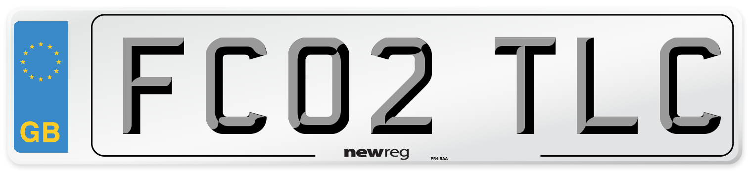 FC02 TLC Number Plate from New Reg