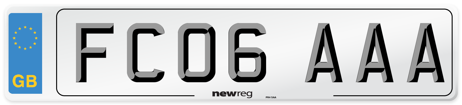 FC06 AAA Number Plate from New Reg