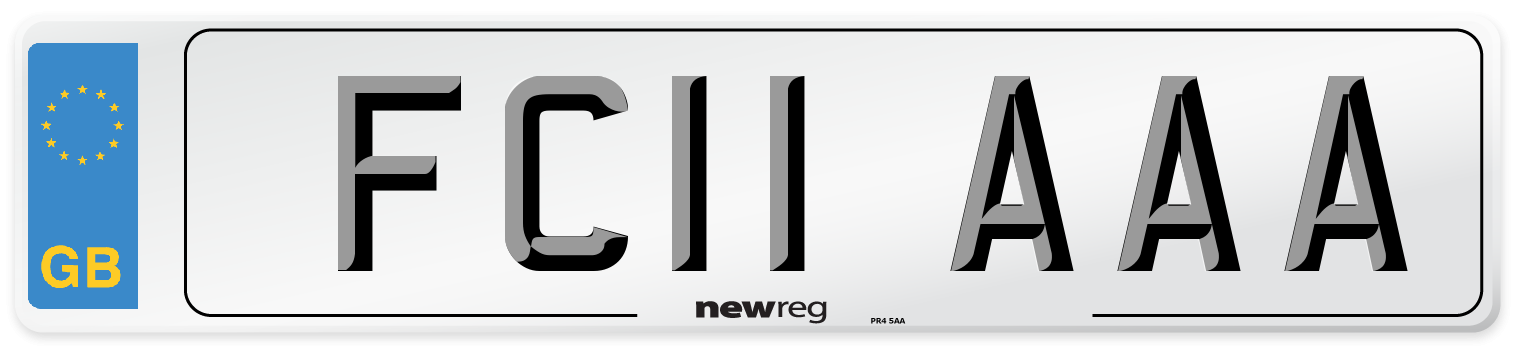 FC11 AAA Number Plate from New Reg