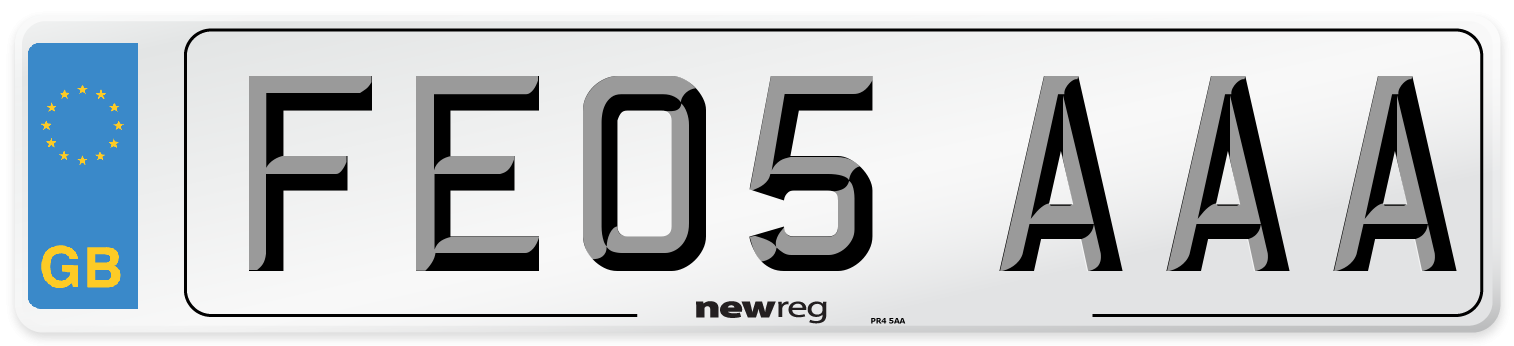 FE05 AAA Number Plate from New Reg