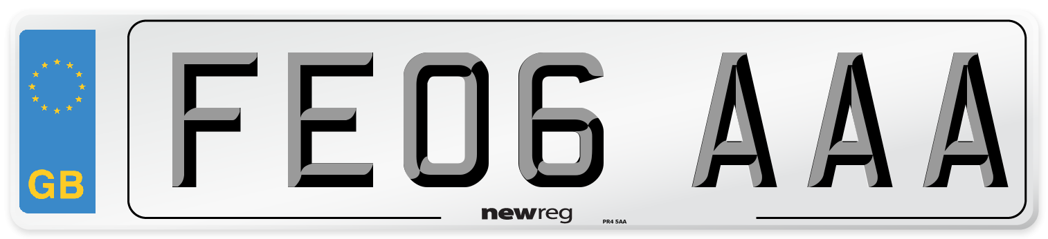 FE06 AAA Number Plate from New Reg