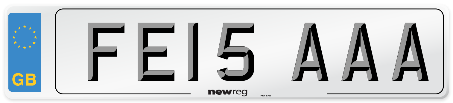 FE15 AAA Number Plate from New Reg