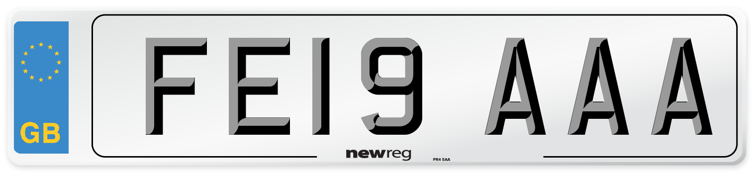 FE19 AAA Number Plate from New Reg