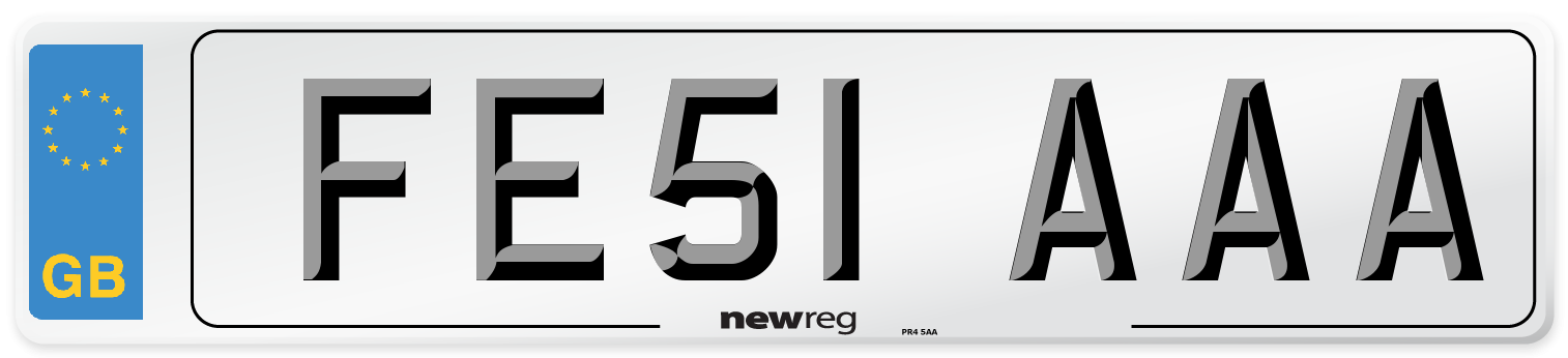 FE51 AAA Number Plate from New Reg