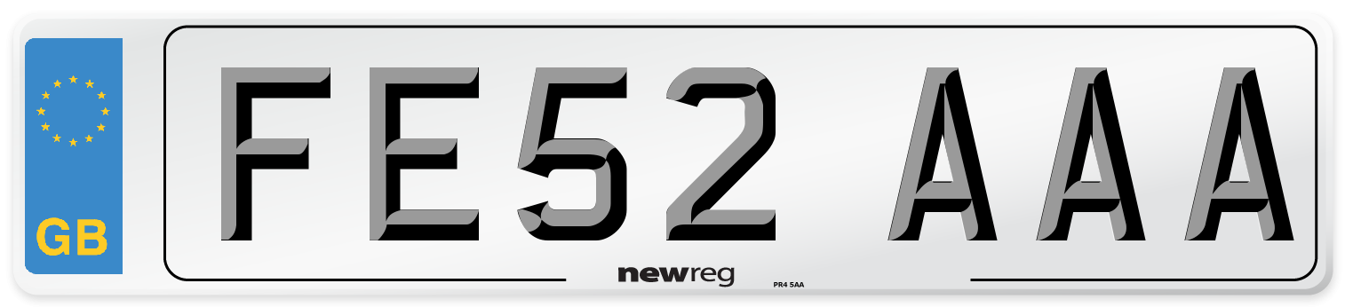 FE52 AAA Number Plate from New Reg