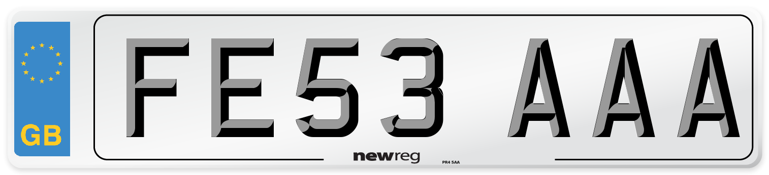 FE53 AAA Number Plate from New Reg