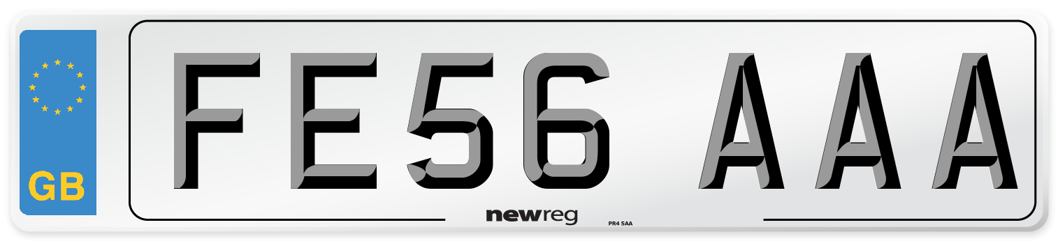 FE56 AAA Number Plate from New Reg