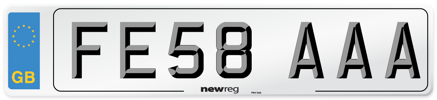 FE58 AAA Number Plate from New Reg