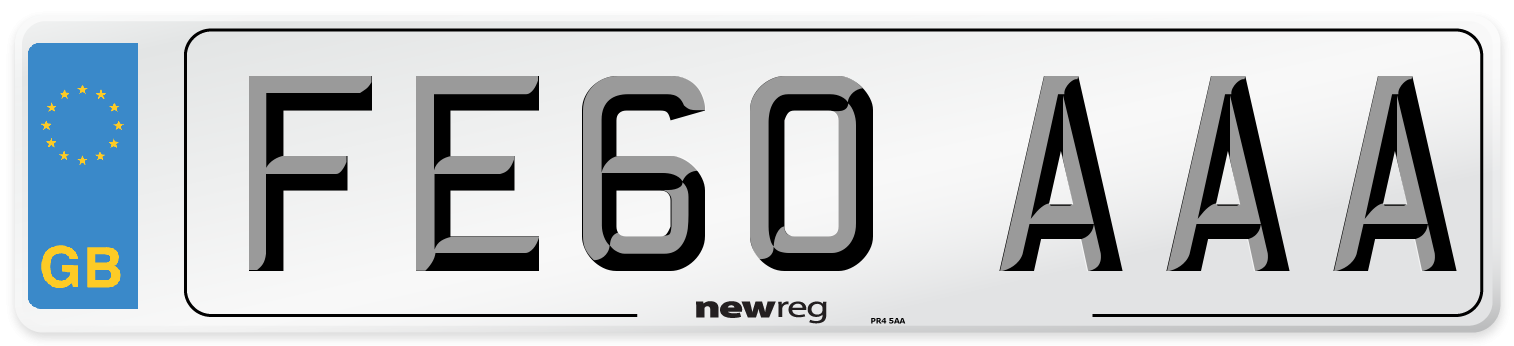 FE60 AAA Number Plate from New Reg