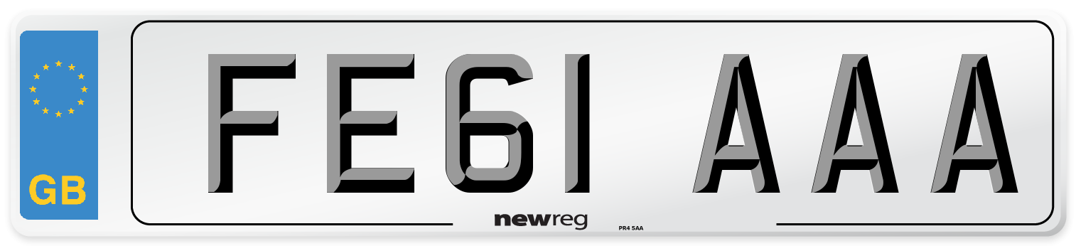 FE61 AAA Number Plate from New Reg