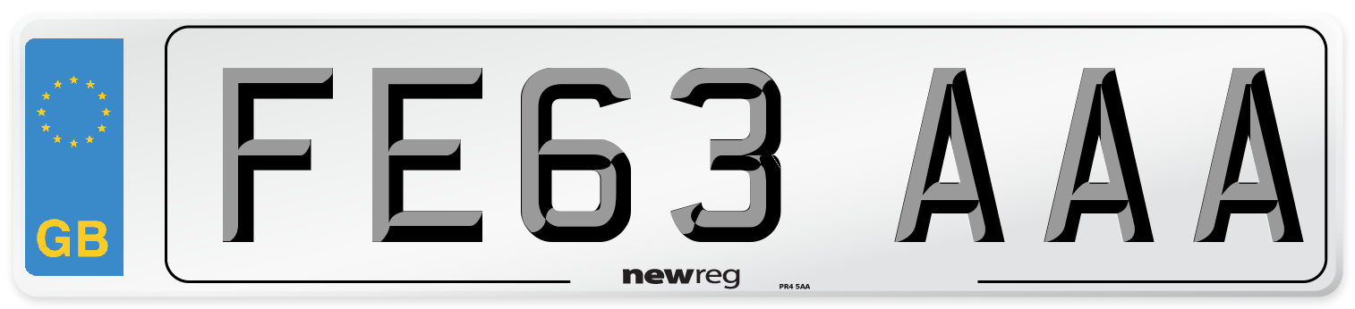 FE63 AAA Number Plate from New Reg