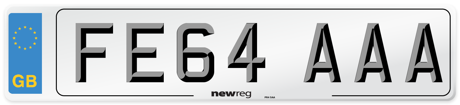 FE64 AAA Number Plate from New Reg