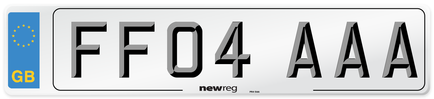 FF04 AAA Number Plate from New Reg