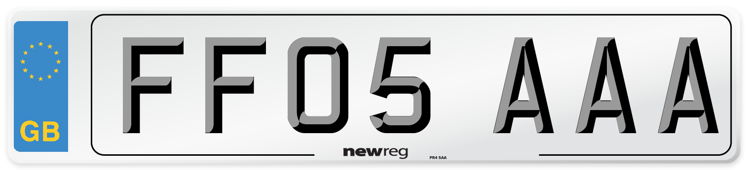 FF05 AAA Number Plate from New Reg
