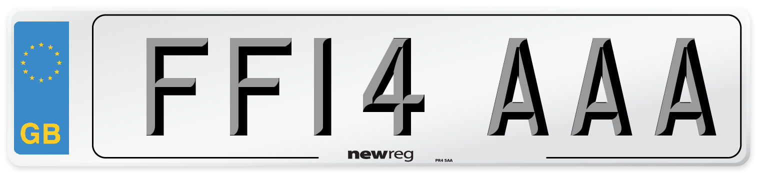 FF14 AAA Number Plate from New Reg