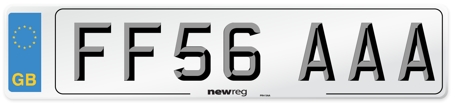FF56 AAA Number Plate from New Reg