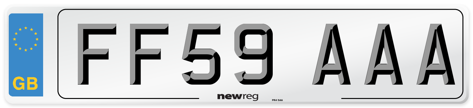 FF59 AAA Number Plate from New Reg