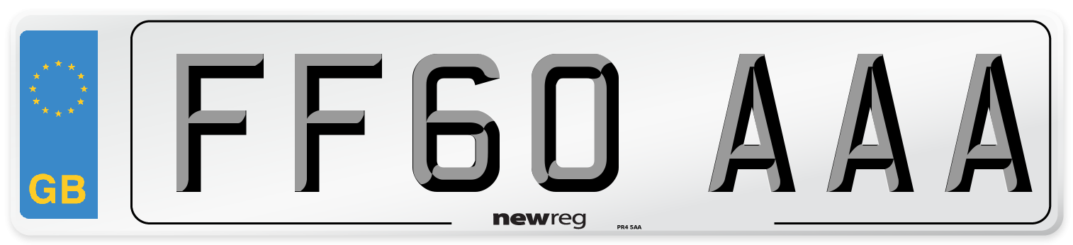 FF60 AAA Number Plate from New Reg