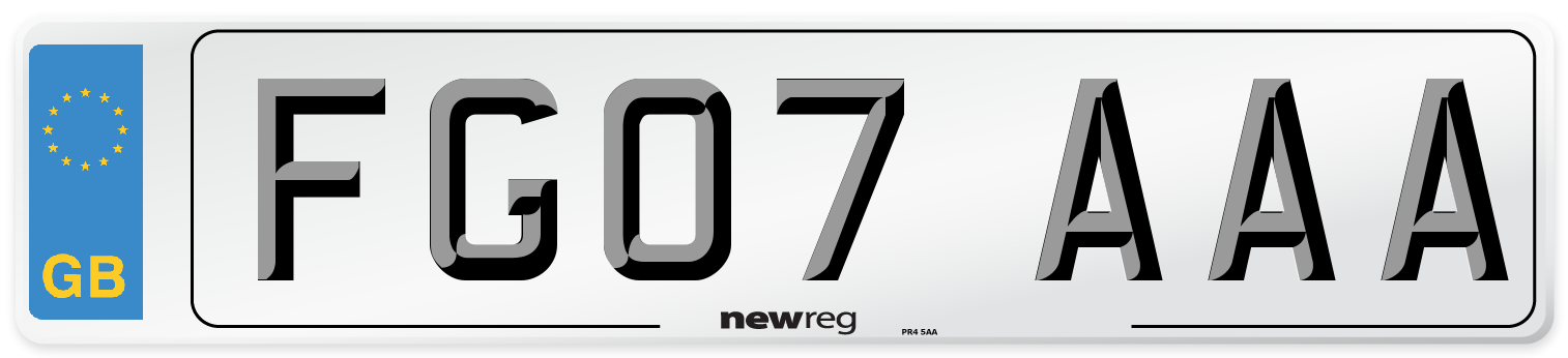 FG07 AAA Number Plate from New Reg