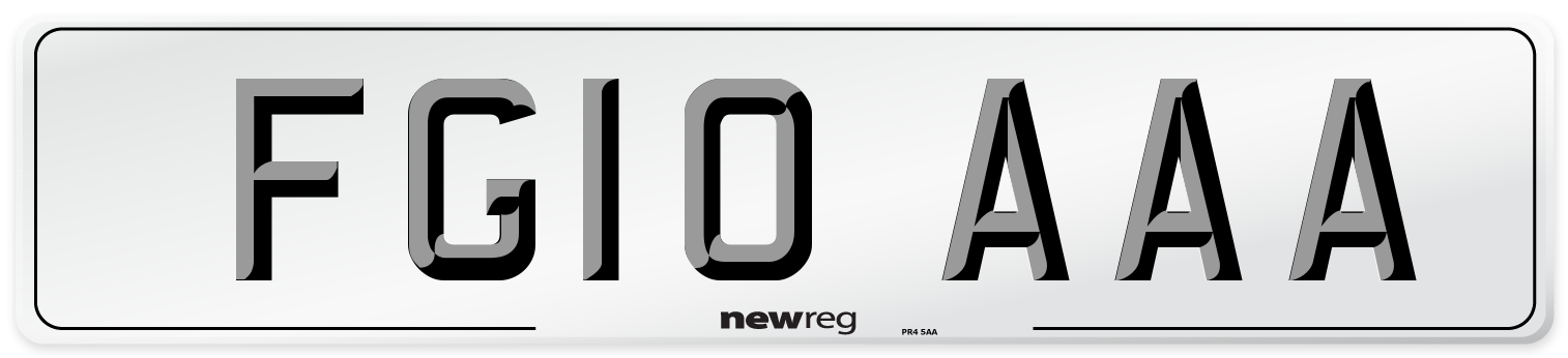 FG10 AAA Number Plate from New Reg