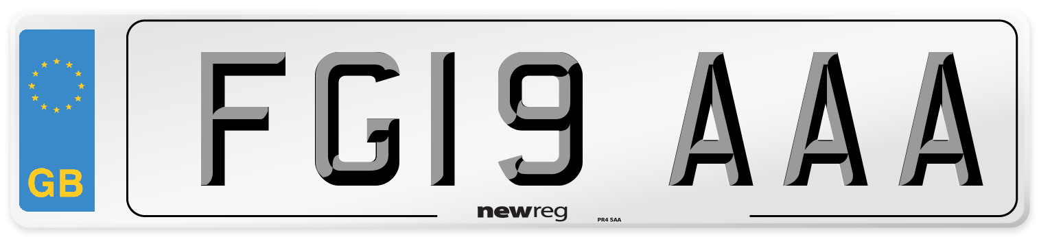FG19 AAA Number Plate from New Reg