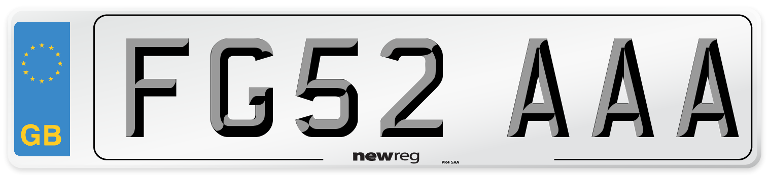 FG52 AAA Number Plate from New Reg