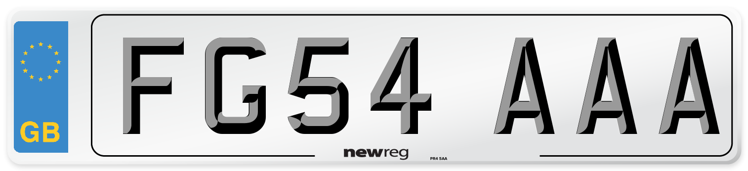 FG54 AAA Number Plate from New Reg