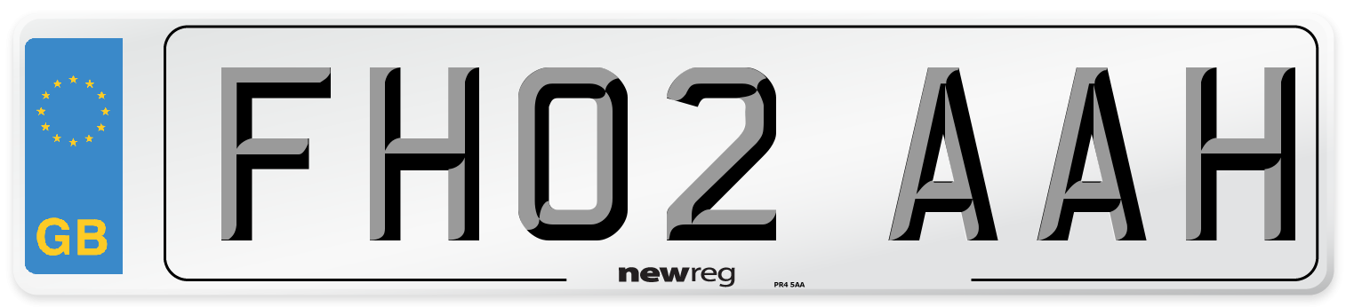 FH02 AAH Number Plate from New Reg