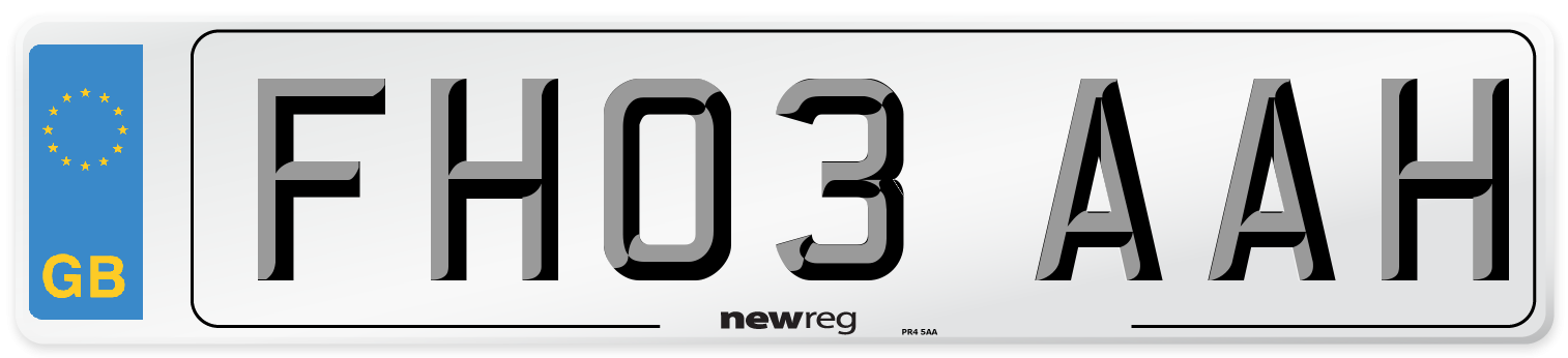 FH03 AAH Number Plate from New Reg