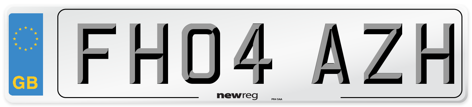 FH04 AZH Number Plate from New Reg