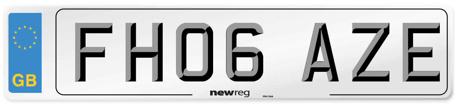 FH06 AZE Number Plate from New Reg