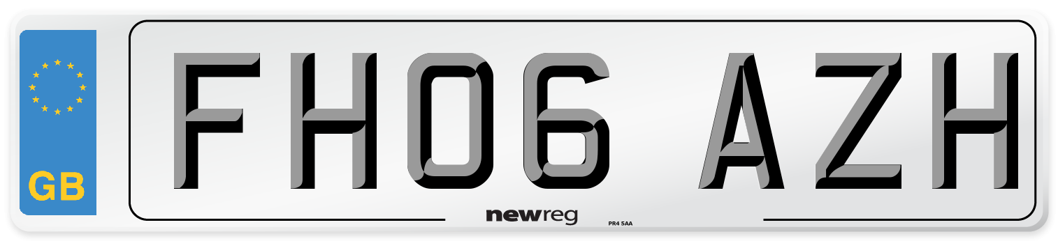FH06 AZH Number Plate from New Reg