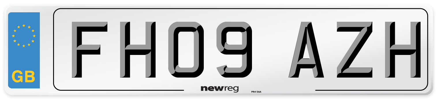 FH09 AZH Number Plate from New Reg