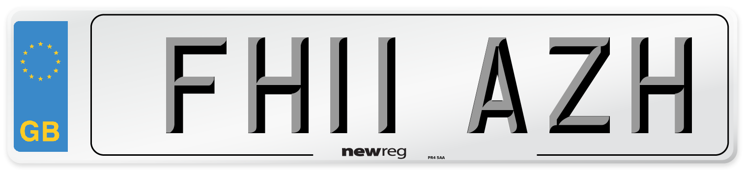 FH11 AZH Number Plate from New Reg
