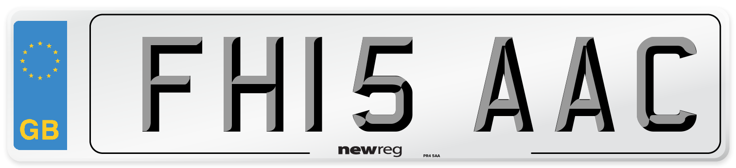 FH15 AAC Number Plate from New Reg