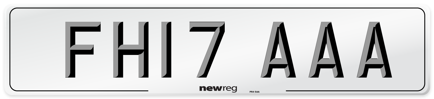 FH17 AAA Number Plate from New Reg