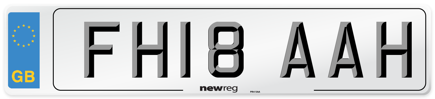 FH18 AAH Number Plate from New Reg