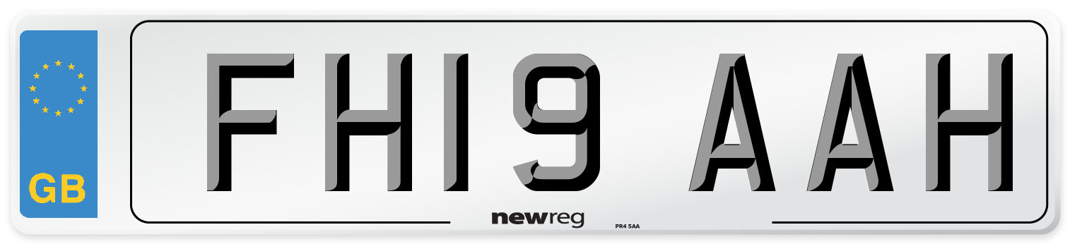 FH19 AAH Number Plate from New Reg
