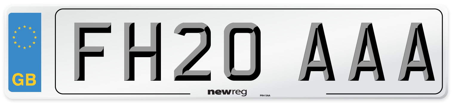 FH20 AAA Number Plate from New Reg