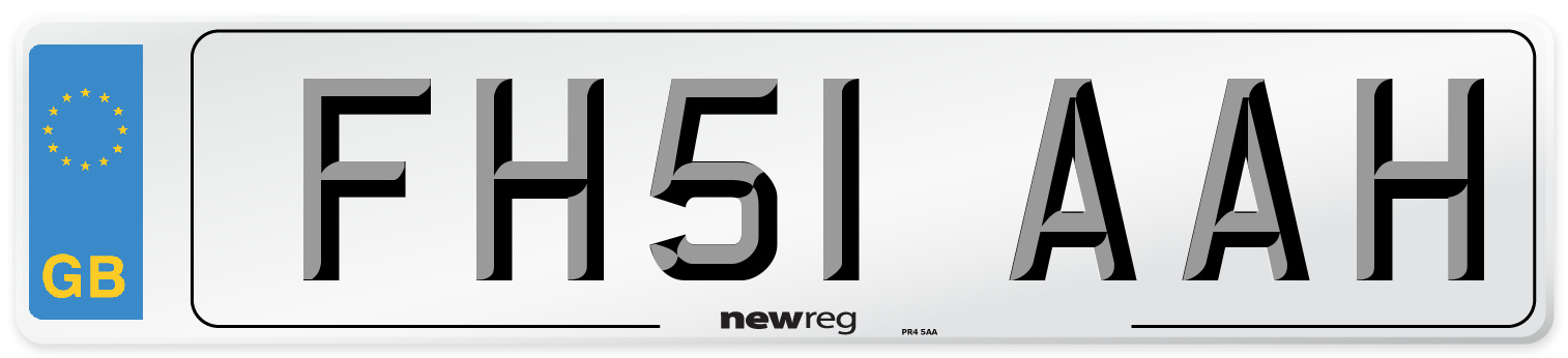 FH51 AAH Number Plate from New Reg