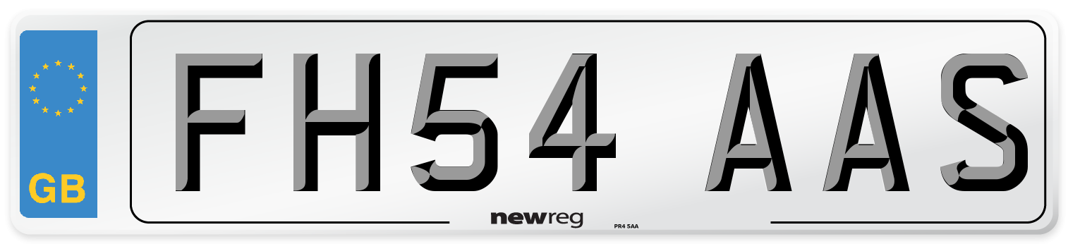 FH54 AAS Number Plate from New Reg