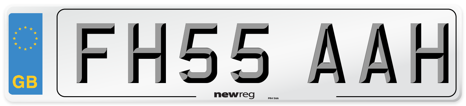 FH55 AAH Number Plate from New Reg