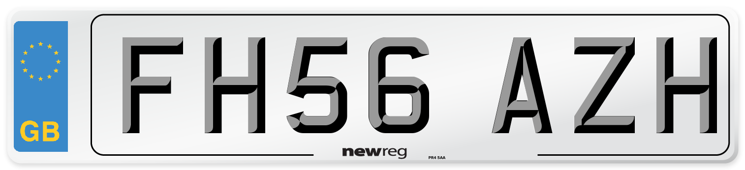 FH56 AZH Number Plate from New Reg