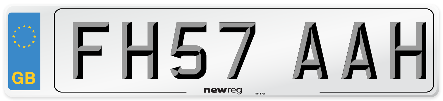 FH57 AAH Number Plate from New Reg