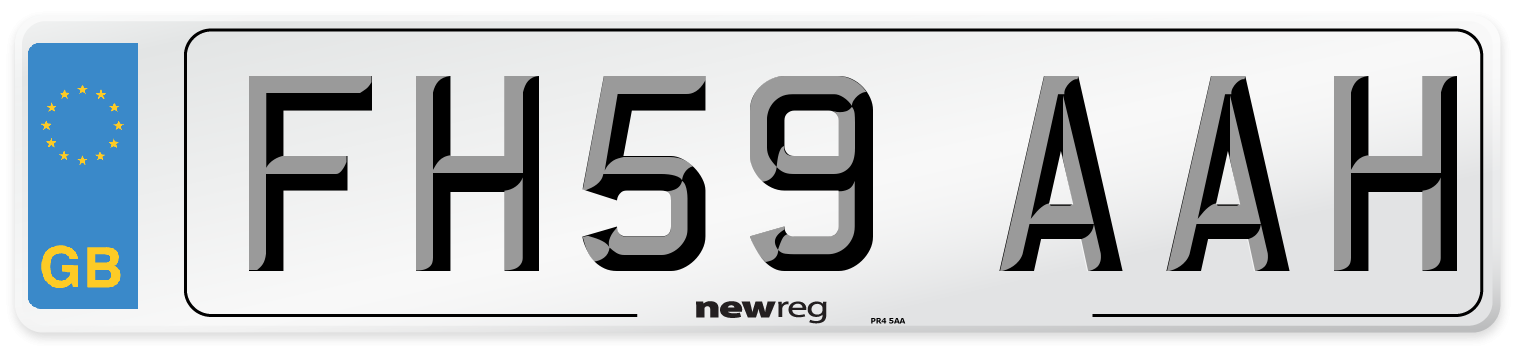 FH59 AAH Number Plate from New Reg
