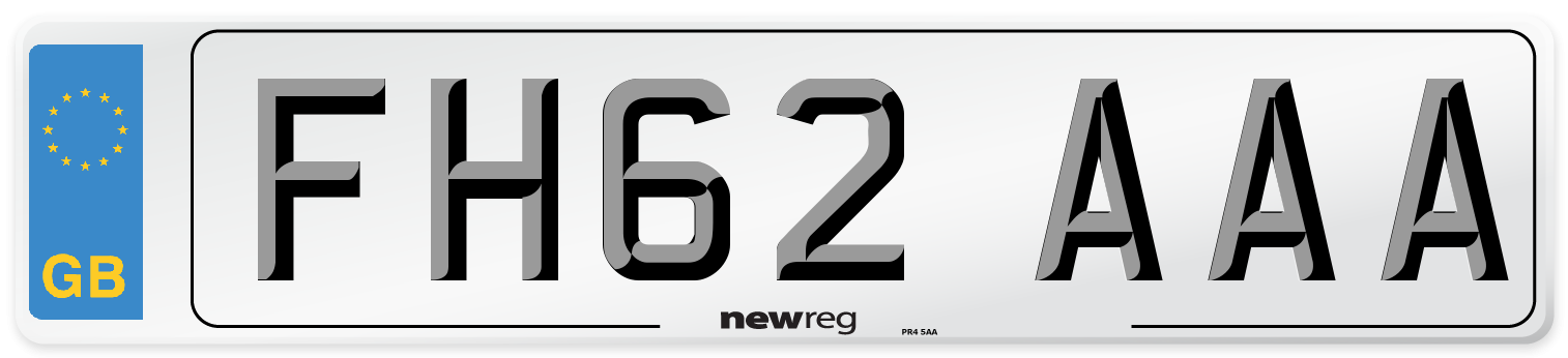 FH62 AAA Number Plate from New Reg