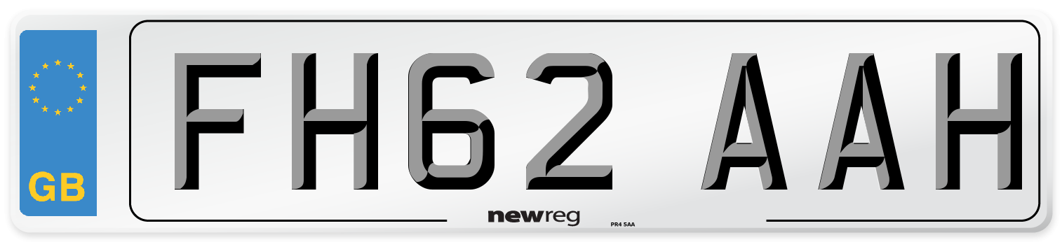 FH62 AAH Number Plate from New Reg